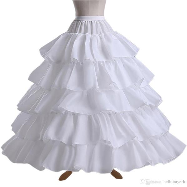 White 5 Hoops Ball Gown Wedding Petticoat Crinoline Black Underskirt Bridal Petticoats Slip Skirt Crinoline 2019 For Wedding Dresses