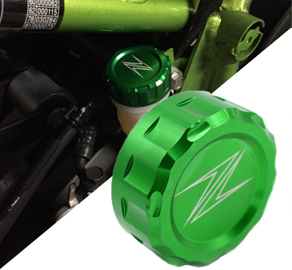 Accesorios de la motocicleta CNC Aluminio Freno trasero Tapones del depósito de aceite Cubierta de la taza para Kawasaki Z250 Z750 750R Z800 Z1000 Z1000SX