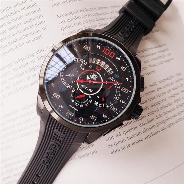 ETIKETI izle Çalışma saniye kuvars hareketi çapı 44mm Kol marka adam Izle Lüks su geçirmez 2019 kronometre kronograf Saatı
