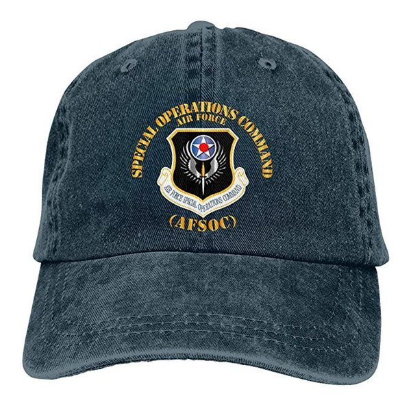 2019 New Custom Baseball Caps Air Force Special Operations Command Mens Cotton Adjustable Washed Twill Baseball Cap Hat