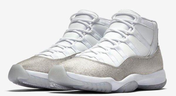 White Metallic Silver Vast Grey