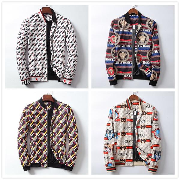 2019 Nuevo estilo de diseño de los hombres chaqueta de mezclilla de invierno de lujo Jean Coat hombres mujeres de manga larga al aire libre ropa para hombre ropa de mujer medusa