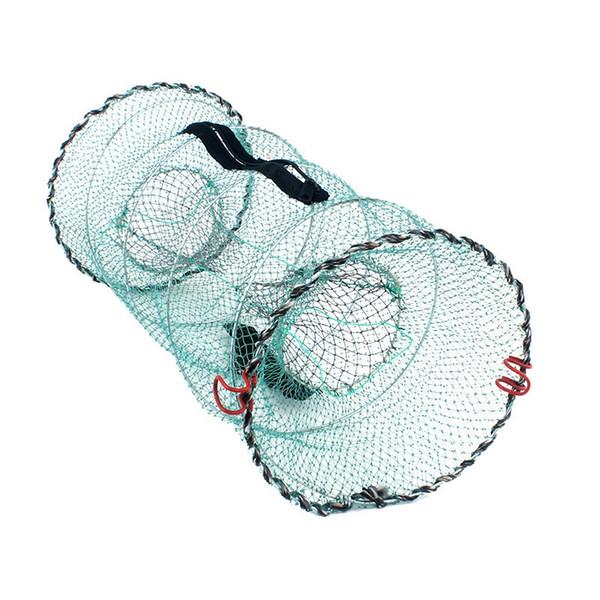 Folding Fishing Net Baits Crab Crawdad Shrimp Minnow Fishing Bait Trap Cast Dip Net Spring Cage Mesh Trap Network