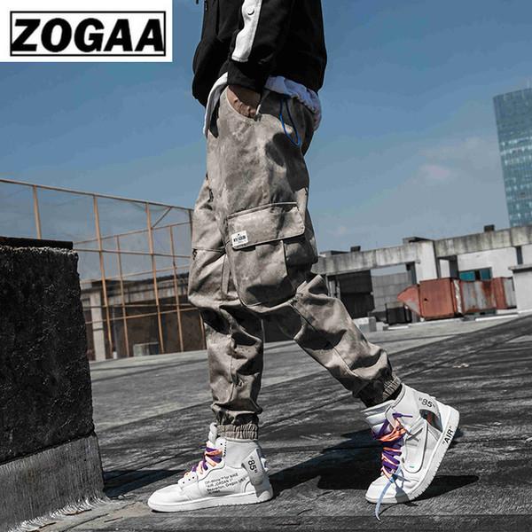 ZOGGA 2019 Frühling Camouflage Männliche Volle Länge Cargo Pants Lose Baumwolle Mid-Taille Männer Hosen Ohne Fade / Shrink / Pilling