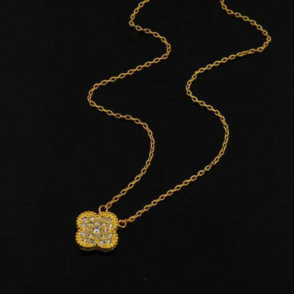 Collier de couleur or