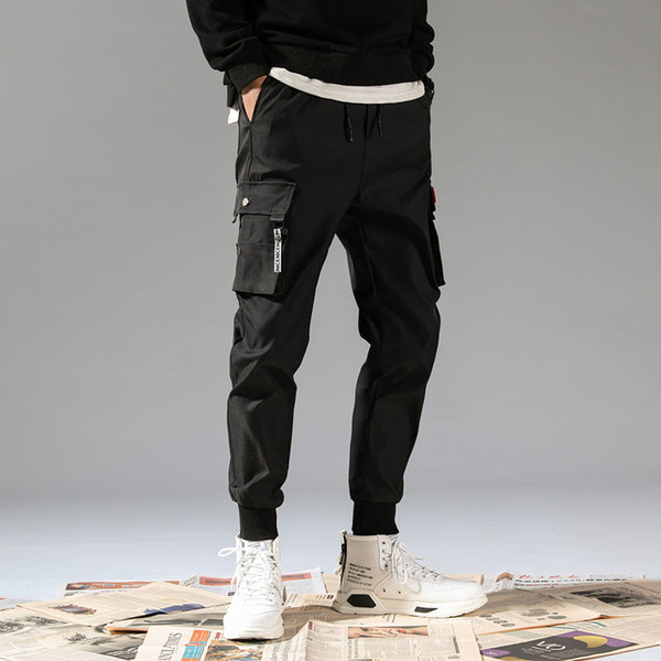 Compre Pantalones Januarysnow 5xl Cargo De Los Hombres De La Vendimia Hombre Hip Hop Caqui Negro Bolsillos Joggers Pantalones Hombre Coreano Pantalon De Moda Otono De Los Guardapolvos A 15 25 Del