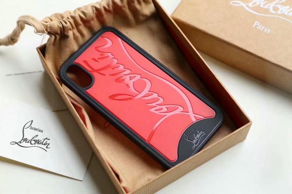 Cáscara grabada en relieve cubierta de la caja del teléfono para el iphone Xs max X 7plus 8 8plus TPU lado suave + tapa trasera dura con caja