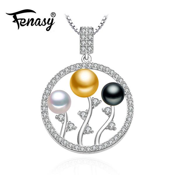 FENASY 925 sterling silver bohemien perle perline collana lascia catena collana, gioielli collana di perle gioielli ciondolo donne