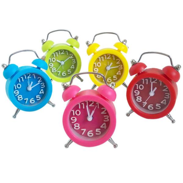Hot Creative Cute Mini Multifunction Alarm Clock Digital Clock Snooze Display Time Night Led Light Table Desktop Alarm #F