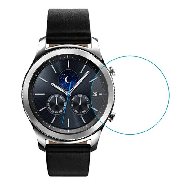 Película de vidrio templado universal diametral de 28 mm para IWatch Galaxy LG Sony Huawei Garmin