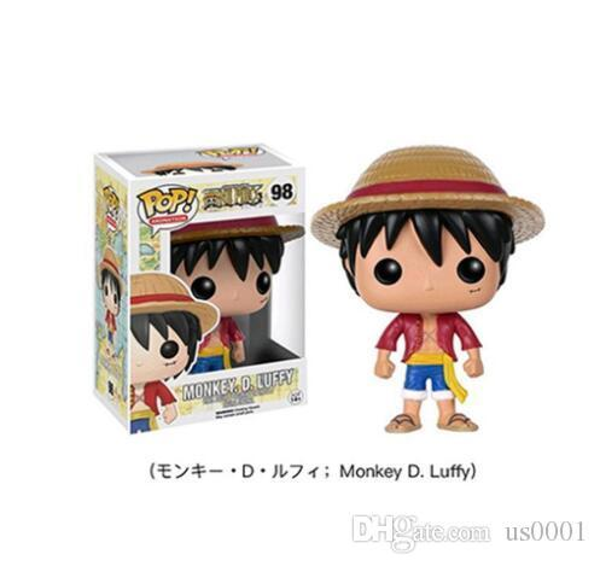 Funko pop luffy tony chopper tony trafalgar` law figuras de ação pvc anime brinquedos japonês dos desenhos animados doll toys para coleção 10 cm