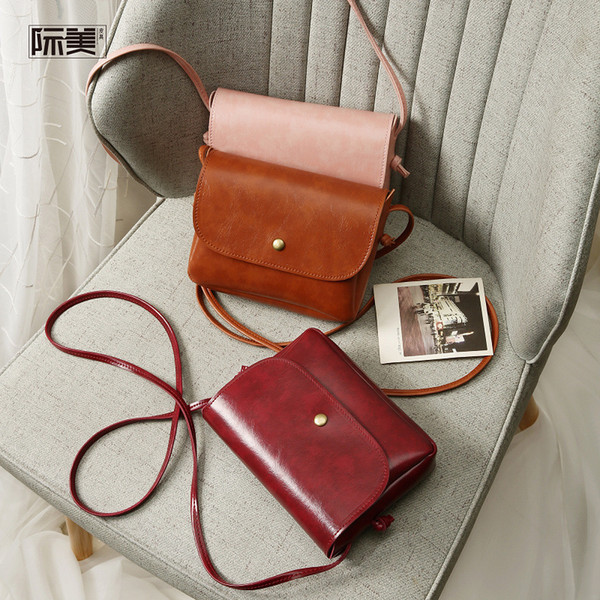 hot sale 2019 new lady Cross Body plain pu single shoulder bag mini Mobile phone bag fashion flap Cheap women envelope bag