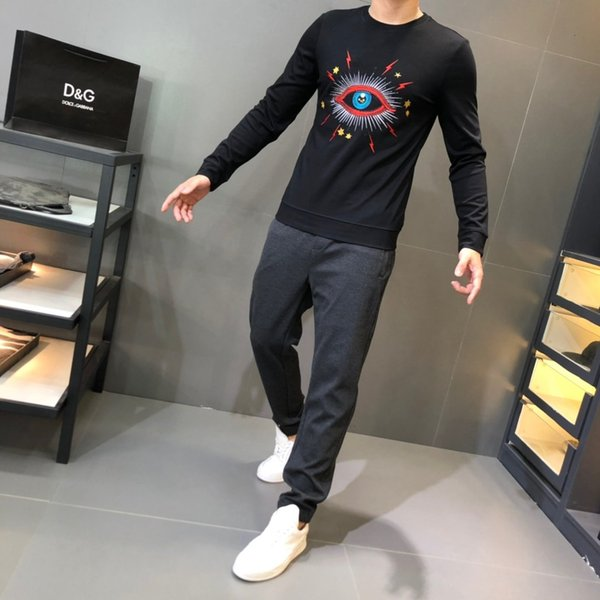 2019 new high quality men's autumn and winter bottoming sweater 20190930#0052qz105dunhang06