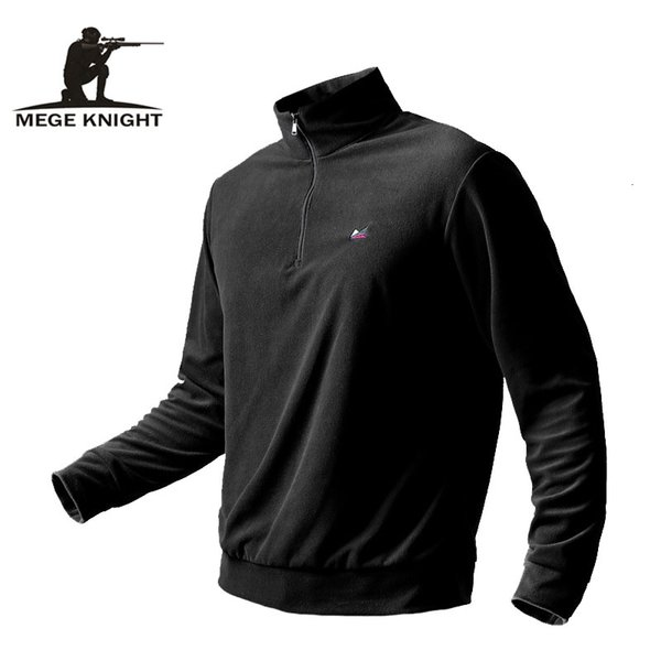 Mege Brand Clothing Men Autumn Winter Inner Warm Fleece Hoodie Jacket Military Tactical Male Inside Long Sleeve Army Plus Size SH190918