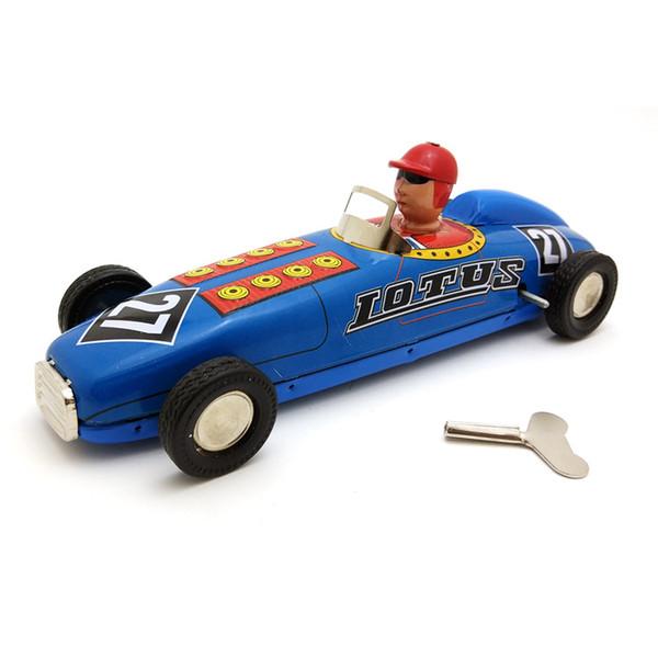 [Drôle] Collection adulte remontage rétro jouet métal étain F1 Racing voiture champion racer chiffres de jouet mécanique modèle cadeau jouet vintage