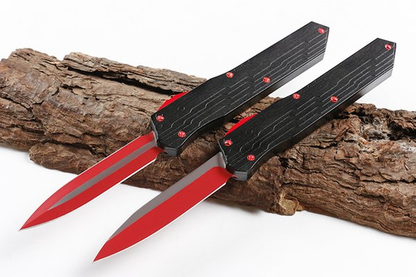Munroe Cypher AUTO Tactical Knife D2 Titanium Coated Blade T6061 Handle 2 Models optional Blade Styles EDC Tools