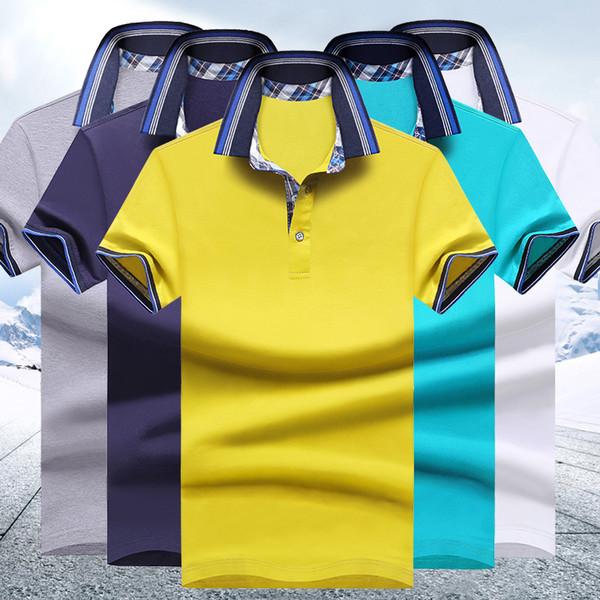 Di lusso degli uomini shirt design Cinque colori estate girano-giù maniche corte Camicia Moda Uomo Top