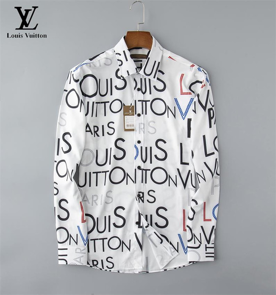 best selling 2020 high-end new long-sleeved lapel men's shirt S-3XLVG18