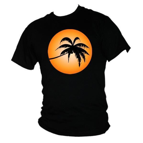 T-Shirt Strand Holiday Herren di Palm Sun Cool Relax Out Sommerzeit