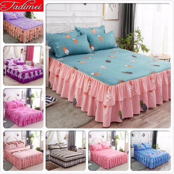 120x200 150x200 180x200 180x220 200x220 Bed Skirts Adult Kids Child Boy Single Twin Full Double Queen Size Bedspreads Bedskirt