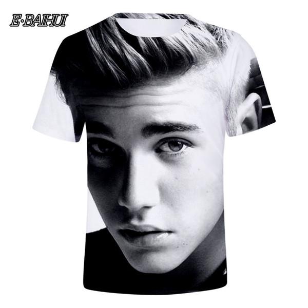 E-BAIHUI Famous Star Justin Bieber 3D T-shirt Men/Women Tshirt 3D Print Idol Tees Tops Cool Shirts Top Clothes Q0248