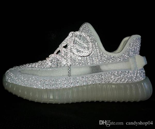 Compre Adidas Yeezy Off White 350 Con Los Zapatos Para Correr Box2019, Amarillo Semicongelado, Blanco Lechoso Rojo Noche De Cebra Que Brilla Por Todo