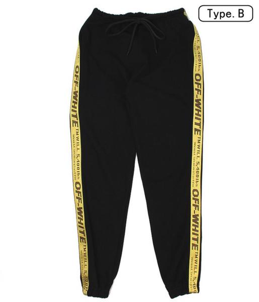 Seitenpfeil Farbblock Patchwork Gedruckt Pluderhosen Männer Frauen 2019 Hip Hop Casual JoggersTrousers Männlich Streetwear