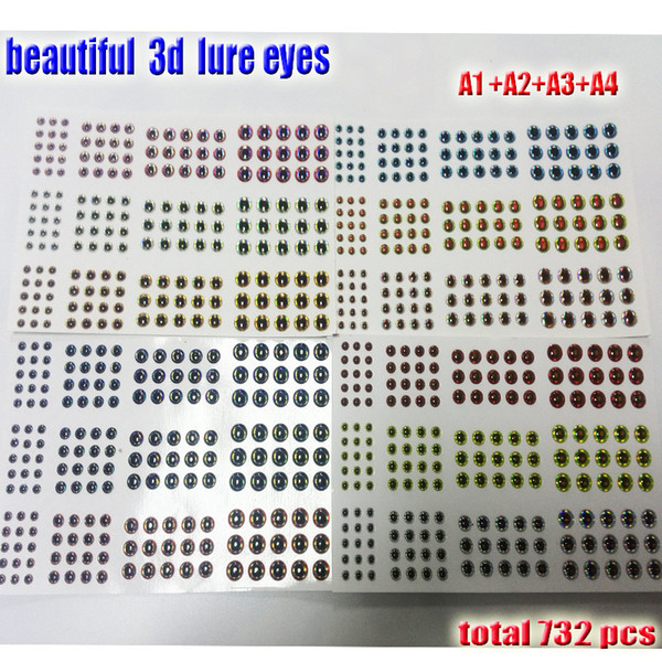 Fishing Lures 2017 3d lure eyes 12A3A4 you choose size 345mm6mm quantity:732pcs/lot beautiful fish eyes high quality artificial