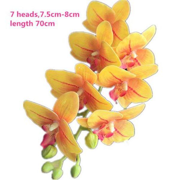 Orquidea amarilla de 70cm