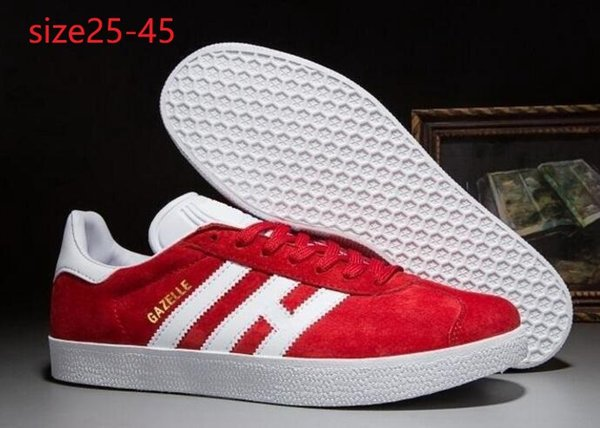 Top Quality 2019 Men Women Casual Suede Gazelle Black Grey Red Yellow Lightweight Flats Shoes 36-45