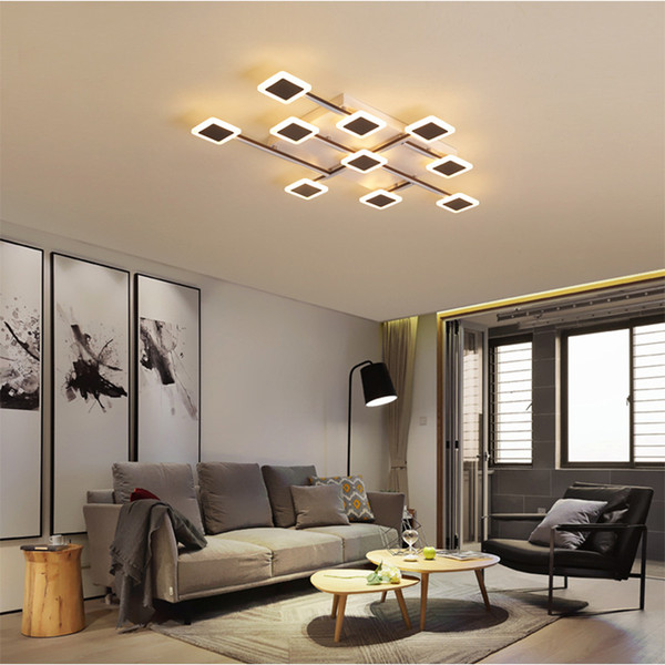 Ceiling Light Creative Square Acrylic Led Ceiling Lamp Shaped Bedroom Living Room Simple Post Modern Nordic Rc Dimmable Led Pendant Light Modern