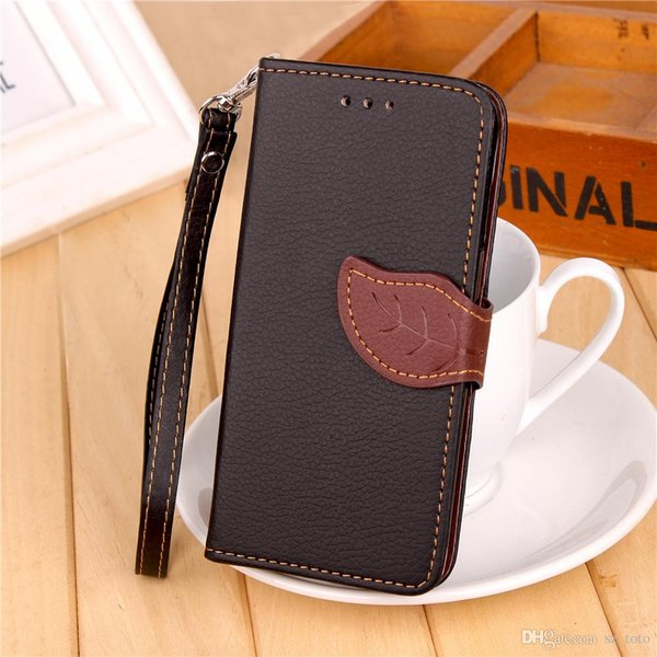 Mytoto Luxury Litchi leaf PU Leather Wallet Flip Cover For Samsung Galaxy and iPhone Grand Prime Coque