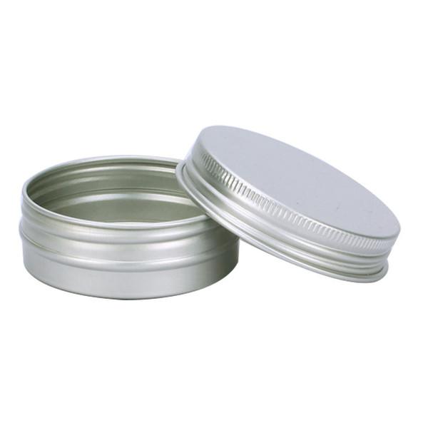 30 ml di barattoli di alluminio riutilizzabili vuoti in metallo nero rosso argento scatola di metallo contenitori cosmetici artigianato imballaggio W9272