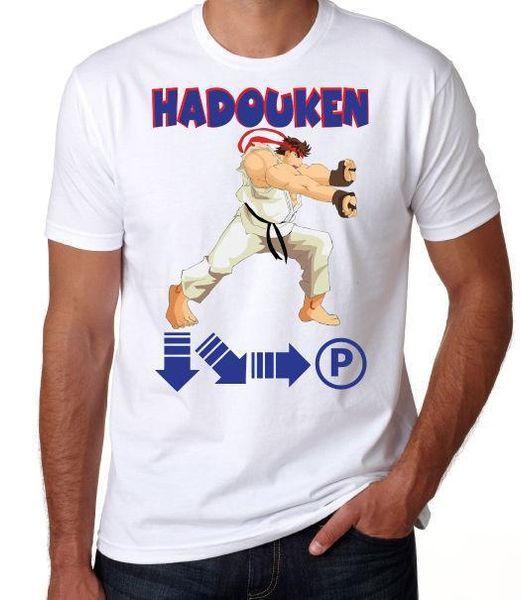 Street Fighter Hadouken Classic Video Arcade Game 80'S 90'S White Geek T  Shirt Coolest T Shirts Online Buy Shirt Designs From Lefan03, $14 66|