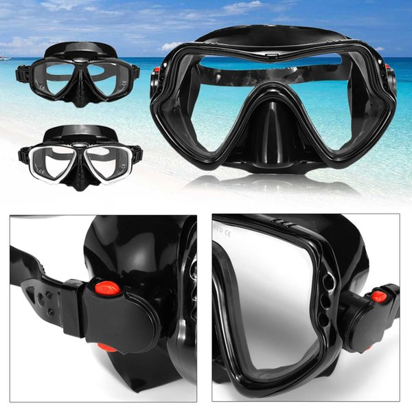 Unisex Tempered Glass Diving Mask 3 Types Tempered Glass Hyperopia Myopia Snorkeling Swimming Goggles Highest Grade Silicone