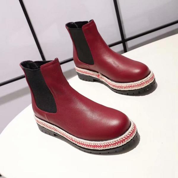 SuperStar ultimi stivali di pelle resistenti all'usura stivali della caviglia di modo delle donne del partito internazionale grandi nomi del progettista casuali delle donne di lavoro 34-40