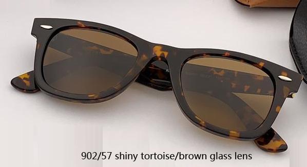 50mm 902/57 glänzende Schildkröte / braune Linse