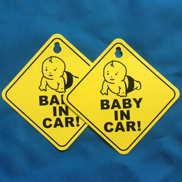 Etiqueta engomada del coche Bebé A BORDO Advertencia Señal de seguridad Pegatinas Calcomanía de vinilo Car Styling for Body Door Window Sticker L