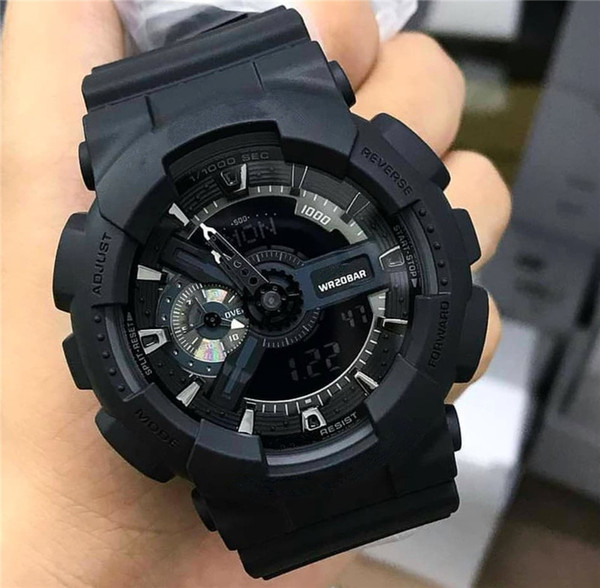 Shock Watches Men Women Digital LED Designer Autolight Waterproof Student Brand Military Sports Watch Black Strap G Style Wrist Watch