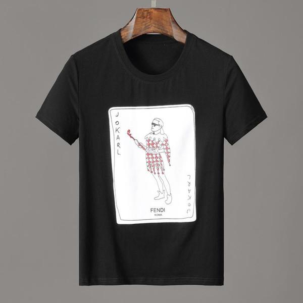 19ss JoKarl Print playing cards FF roma T-SHIRT Men shirts mens women Short Sleeved T-shirt Tops shorts Tee F931 clothing