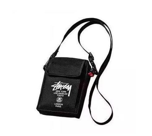 Marca de la marea negra del mensajero del bolso de hombro de los hombres y mujeres de moda bolsas de mochila