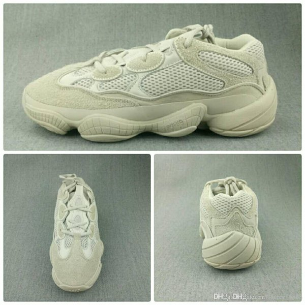 Actual Shooting Adidas Yeezy 500 Blush Desert Rat Super Moon Yellow Light Grey Gum Glow Running Shoes Sneaker Men Sports Casual Boost Casual Shoes