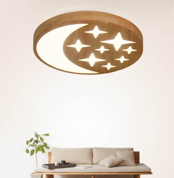 Admirable 2019 Modern Simple Wood Star Moon Roof Lighting 38Cm Bedroom Studio Living Room Led Roof Lighting Llfa From Volvo Dh2010 288 49 Dhgate Com Andrewgaddart Wooden Chair Designs For Living Room Andrewgaddartcom