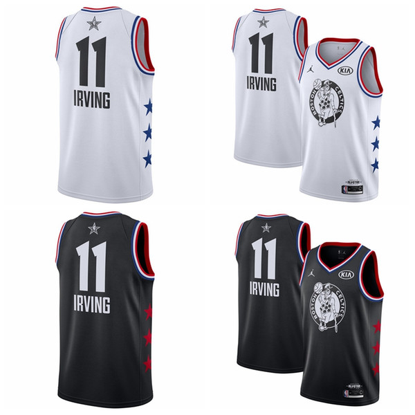 low priced fddd6 55d4c 11 Kyrie Irvings Boston Men'S Celtics 2019 All Star Game Finished Swingman  Basketball Jersey Black White Men Black Tuxedo Men Prom Clothes From ...