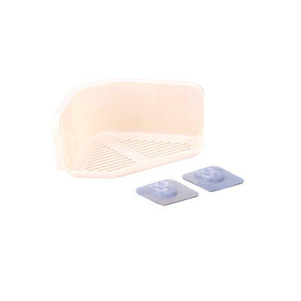 Ripiano angolare per ripiano per doccia Organizer per ripiano per bagno da cucina Forniture per bagno da casa Adesivo multiuso in plastica a colori