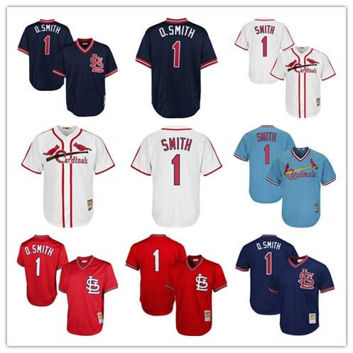 quality design ff764 0cda9 2019 Men'S Cardinals 1 Ozzie Smith St. Louis & Ness Navy 1994 Authentic  Cooperstown Collection Mesh Batting Practice Women Kids Jersey From  Lzytop009, ...
