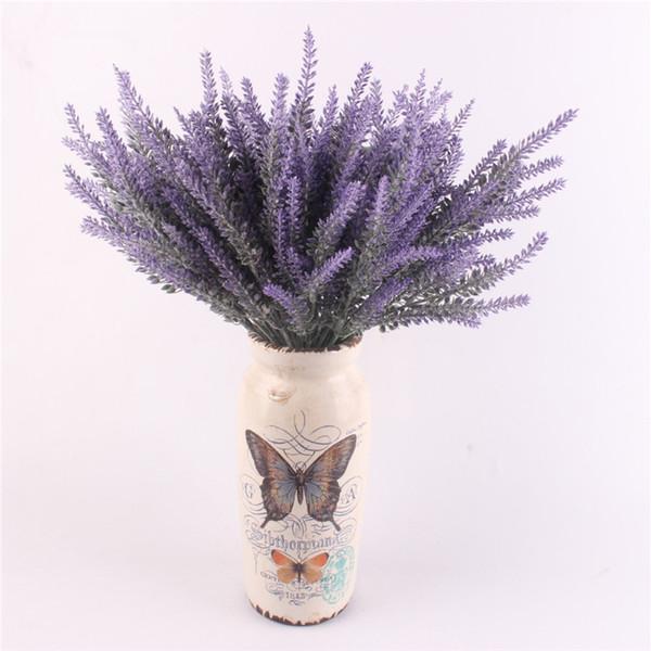 Romantica decorazione provenzale fiori di lavanda seta fiori artificiali grano decorativo Simulazione di piante acquatiche