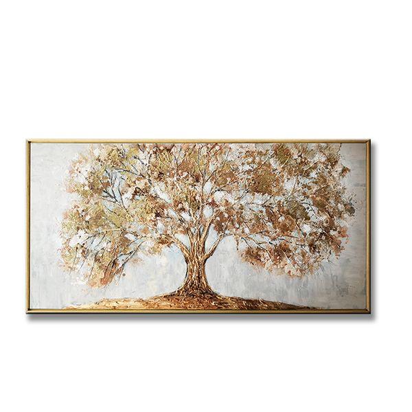 vendita calda Pure dipinti ad olio su tela dipinto a mano albero oro soldi foto di arte della parete per la camera da letto di arredamento salotto nessun pagina