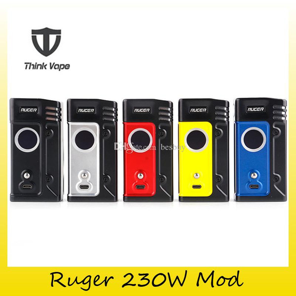 Authentic Think Vape Ruger 230W VW TC Box Mod 2x 18650 Battery ThinkVape Mods For 510 Thread Atomizers Tank 100% Genuine 2256007