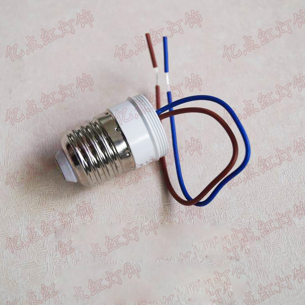 E27 Lead Power Lamp Holder 220V E27 Lamp Holder tornillo con alambre plástico portalámpara para Downlight modificación